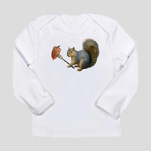 Squirrel Acorn Fork Long Sleeve T-Shirt
