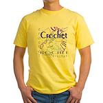 Crochet Purple Yellow T-Shirt