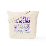 Crochet Purple Tote Bag