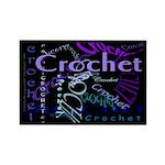 Crochet Purple Rectangle Magnet
