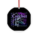 Crochet Purple Ornament (Round)
