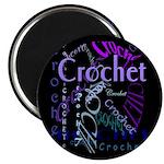 Crochet Purple Magnet