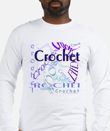 Crochet Purple Long Sleeve T-Shirt