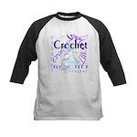 Crochet Purple Kids Baseball Jersey