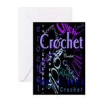 Crochet Purple Greeting Cards (Pk of 20)