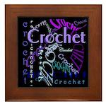 Crochet Purple Framed Tile