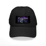 Crochet Purple Black Cap