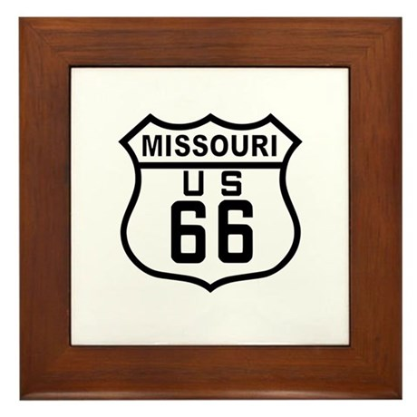 Missouri Route 66 Framed Tile
