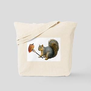 Squirrel Acorn Fork Tote Bag