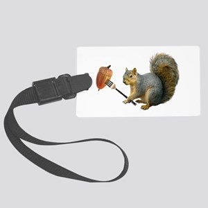 Squirrel Acorn Fork Large Luggage Tag