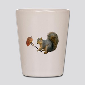 Squirrel Acorn Fork Shot Glass