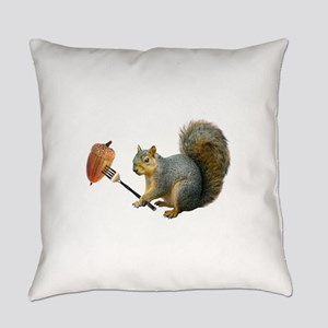 Squirrel Acorn Fork Everyday Pillow