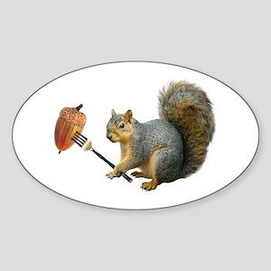 Squirrel Acorn Fork Sticker