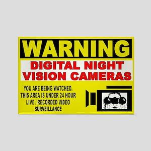 Warning Night Vision Rectangle Magnet
