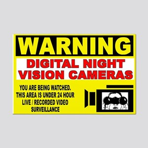 Warning Night Vision Mini Poster Print