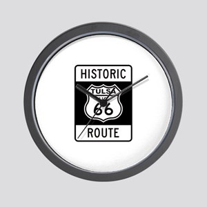 Tulsa, Oklahoma Historic Rout Wall Clock