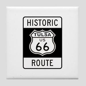 Tulsa, Oklahoma Historic Rout Tile Coaster