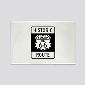 Tulsa, Oklahoma Historic Rout Rectangle Magnet