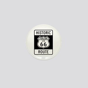 Tulsa, Oklahoma Historic Rout Mini Button