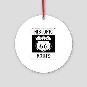 Tulsa, Oklahoma Historic Rout Ornament (Round)