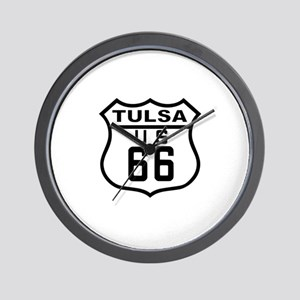 Tulsa Route 66 Wall Clock
