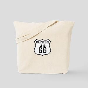 Clinton Route 66 Tote Bag