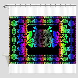 Rainbow Medusa Shower Curtain