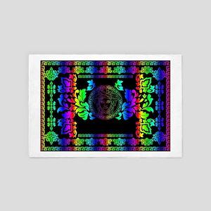 rainbow Medusa 4' x 6' Rug