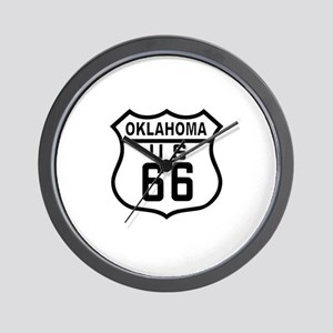 Oklahoma Route 66 Wall Clock