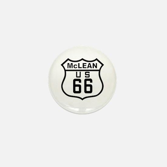 McLean Route 66 Mini Button