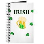 Irish Beer Shamrocks Journal