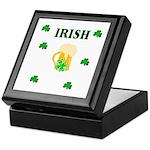 Irish Beer Shamrocks Keepsake Box