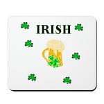 Irish Beer Shamrocks Mousepad
