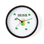 Irish Beer Shamrocks Wall Clock