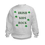 Irish Beer Shamrocks Kids Sweatshirt