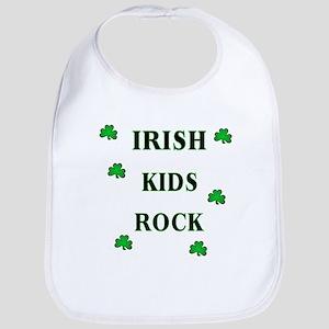 Irish Beer Shamrocks Bib