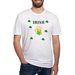 Irish Beer Shamrocks Fitted T-Shirt