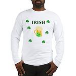 Irish Beer Shamrocks Long Sleeve T-Shirt