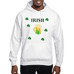 Irish Beer Shamrocks Hooded Sweatshirt
