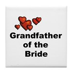 Grandfather of the Bride Tile Coaster
