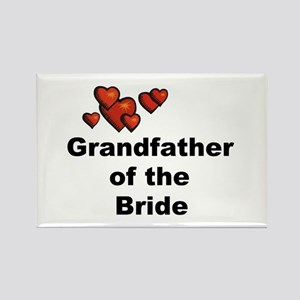 Grandfather of the Bride Rectangle Magnet