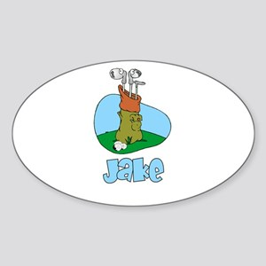 Jake Oval Sticker