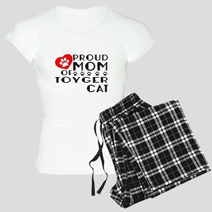 Proud Mom of Toyger Cat Des Women's Light Pajamas