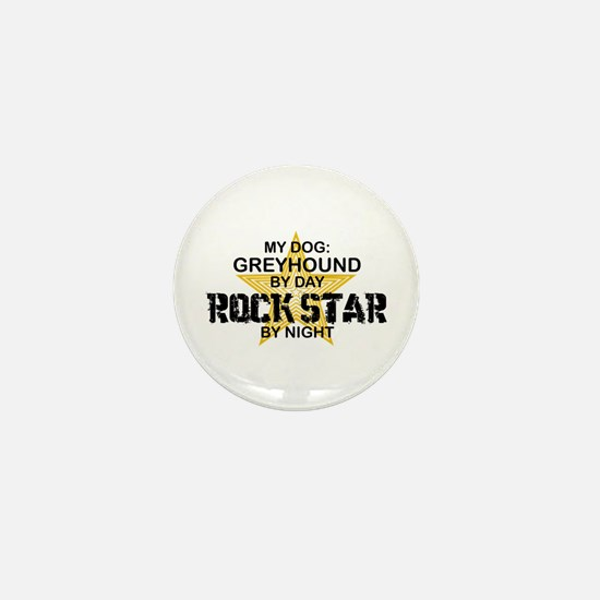 Greyhound RockStar Mini Button