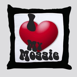 """I Love My Moggie!"" Throw Pillow"