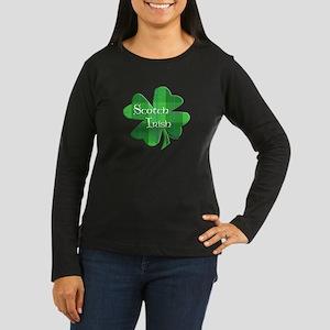 Scotch Irish Shamrock Women's Long Sleeve Dark T-S