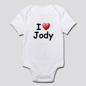 I Love Jody (Black) Infant Bodysuit