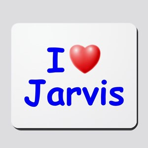 I Love Jarvis (Blue) Mousepad