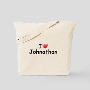 I Love Johnathon (Black) Tote Bag