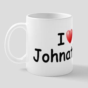 I Love Johnathon (Black) Mug